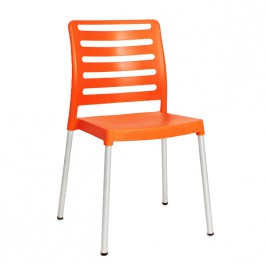 CPG-760-O Chaise restaurant en polypro couleur orange