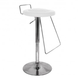 CSY-036-BL-DESTOCK Tabouret de bar tournant et reglable couleur blanc DESTOCKAGE