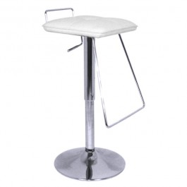 CSY-102-BL-DESTOCK Tabouret de bar reglable couleur blanc DESTOCKAGE