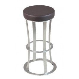 CSY-917-M Tabouret de bar fixe assise ronde marron