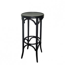 tabouret de bar rond en bois hetre czh 329b one mobilier. Black Bedroom Furniture Sets. Home Design Ideas