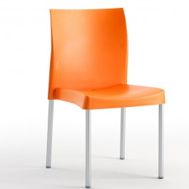 CIS-7055-NA Chaise de terrasse en polypropylène orange