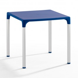 TIS-5002-A Table de terrasse en polypropylène bleu