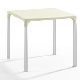 TIS-5002-BE Table de terrasse en polypropylène beige