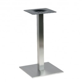 PCH-19-40 Pied de table base carrée en inox brossé ultra plat