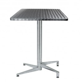 TRA-06C Table terrasse inox pliante