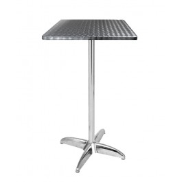 TRA-256CT60 Table haute terrasse alu/inox