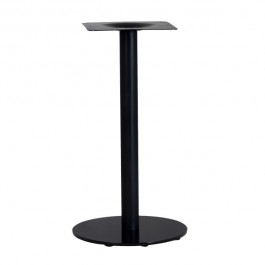 pied de table base ronde en acier noir ultra plat hauteur 62 cm pzn 25 43 one mobilier. Black Bedroom Furniture Sets. Home Design Ideas