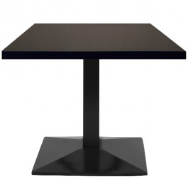 T422 Table de restaurant - base pyramidale avec plateau rectangulaire