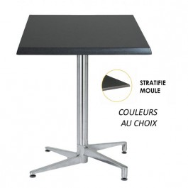 TRA-06CLM Table terrasse plateau stratifié moulé