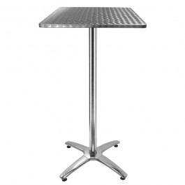TRA-248C60 Table haute terrasse inox