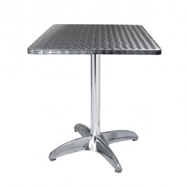 TRA-42C60 Table terrasse alu/inox 60X60 cm