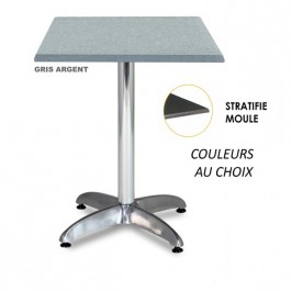 TRA-43CLM Table 70X70 cm plateau stratifié moulé