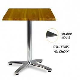 TRA-48CLM Table terrasse plateau stratifié moulé