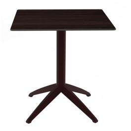 Table industrielle carree pliante et encastrable pied en - Table de bistrot pliante ...