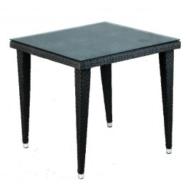 TTV-86-80x80 Table carrée en tressage pvc