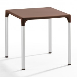 TIS-5002-M Table de terrasse en polypropylène marron