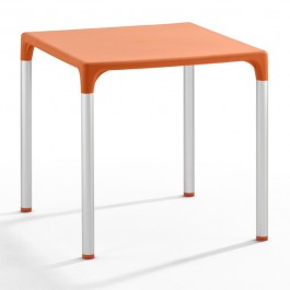 TIS-5002-NA Table de terrasse en polypropylène orange