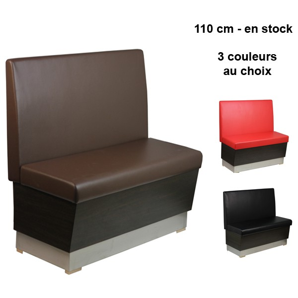 banquette restaurant brasserie 110 cm couleur au choix coffrage caisson bois banq 09 110 one. Black Bedroom Furniture Sets. Home Design Ideas