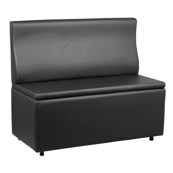 banquette coffre couleur noir longueur 120 cm banq 21 n 120 one mobilier. Black Bedroom Furniture Sets. Home Design Ideas