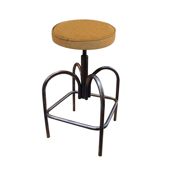tabouret metal a hauteur d assise reglable 44 a 60 cm cbr. Black Bedroom Furniture Sets. Home Design Ideas