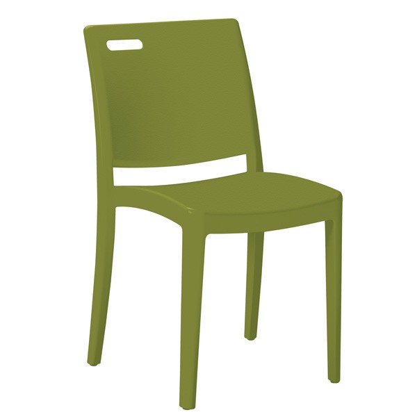 chaise monobloc en polypropylene de fibre de verre grain couleur vert cpl 35200 v one mobilier. Black Bedroom Furniture Sets. Home Design Ideas
