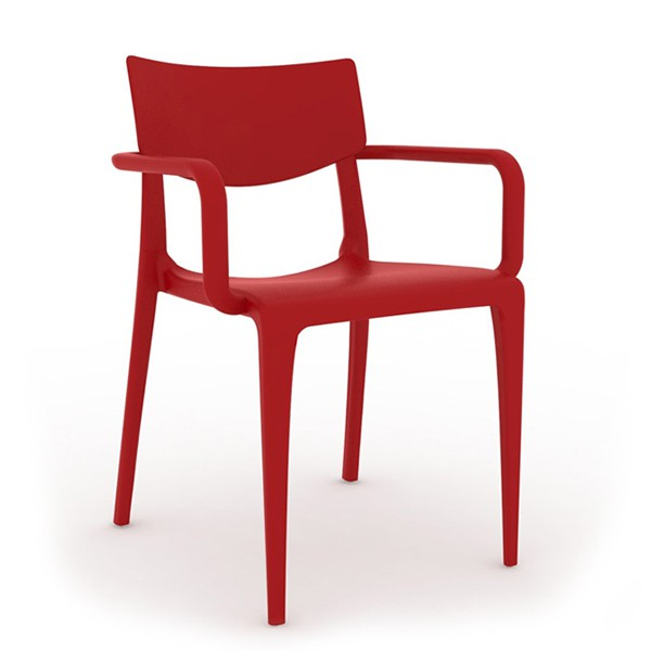 fauteuil d 39 exterieur en injection plastique couleur rouge. Black Bedroom Furniture Sets. Home Design Ideas