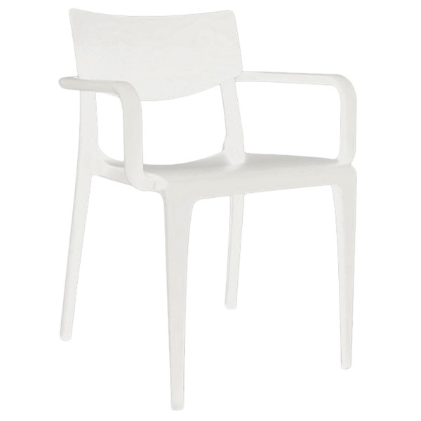 fauteuil d 39 exterieur en injection plastique couleur blanc cpz t095 bl one mobilier. Black Bedroom Furniture Sets. Home Design Ideas