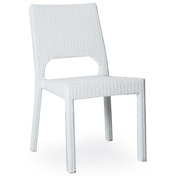 chaise de terrasse tressage pvc couleur blanc cre 417 b one mobilier. Black Bedroom Furniture Sets. Home Design Ideas