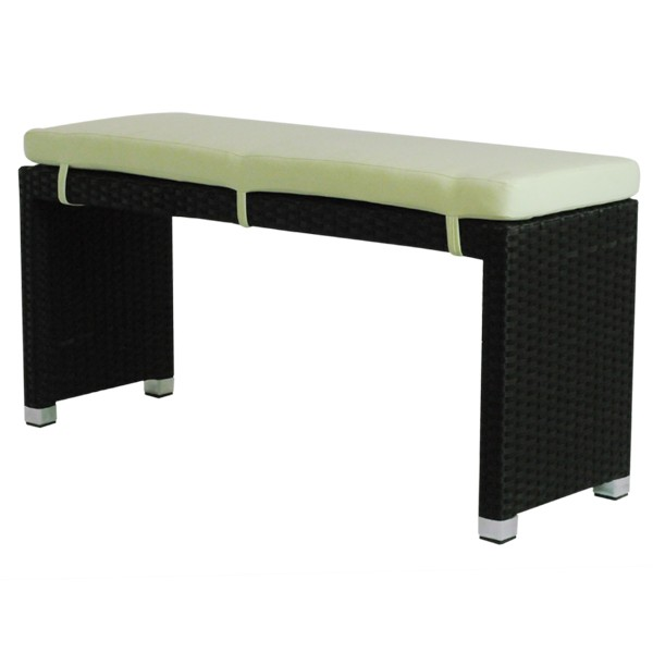 banc de terrasse en tressage pvc et son coussin cre b01 mc one mobilier. Black Bedroom Furniture Sets. Home Design Ideas