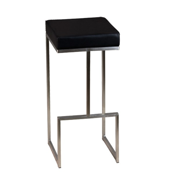 tabouret de bar en inox brosse couleur au choix csy 813 one mobilier. Black Bedroom Furniture Sets. Home Design Ideas