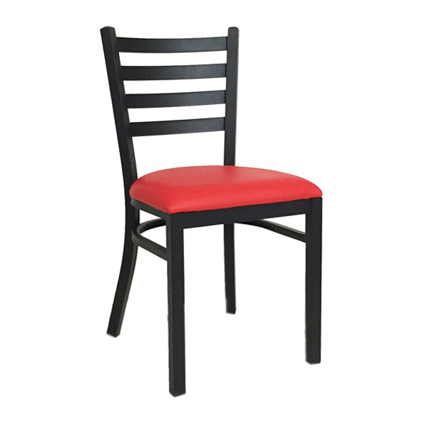 chaise bistrot en acier assise rouge cta 1698 r one mobilier. Black Bedroom Furniture Sets. Home Design Ideas