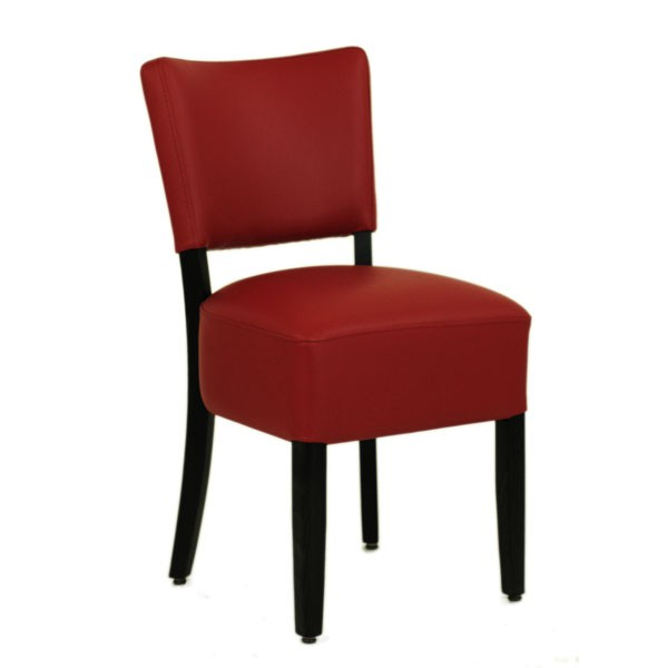 chaise restaurant rembourr e couleur rouge czh 306 r one mobilier. Black Bedroom Furniture Sets. Home Design Ideas