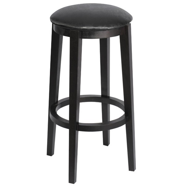 tabouret de bar tapiss assise ronde en bois czh x128r one mobilier. Black Bedroom Furniture Sets. Home Design Ideas
