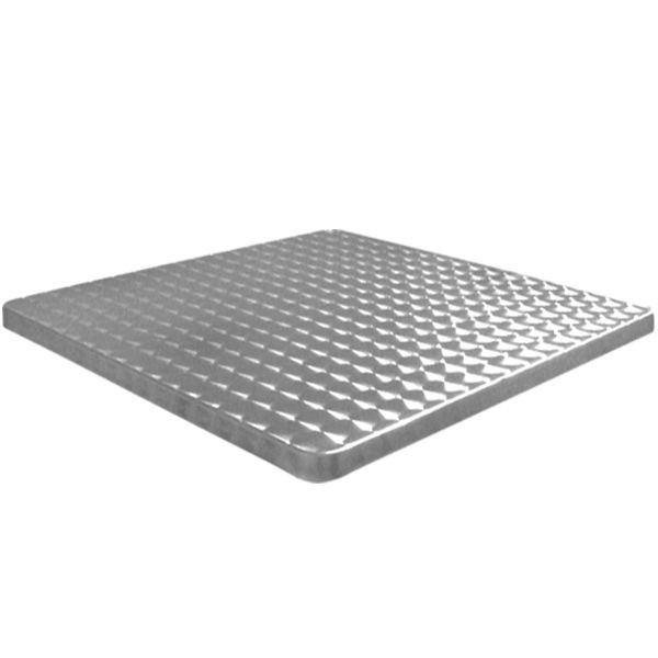 Plateau de table de terrasse en inox bouchonn 80x80 cm for Plateau table exterieur