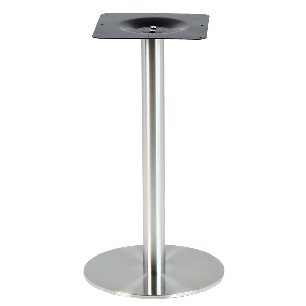 pied de table en inox brosse base ronde ultra plat pch 18 43 one mobilier. Black Bedroom Furniture Sets. Home Design Ideas