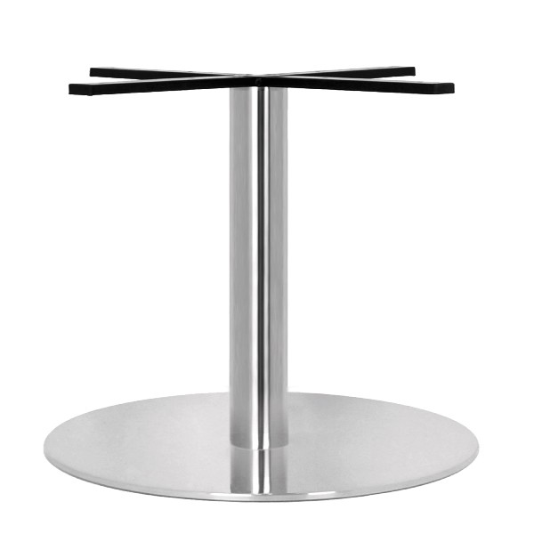 Pied de table en inox bross pour plateau rond de grande - Table ronde pied central inox ...