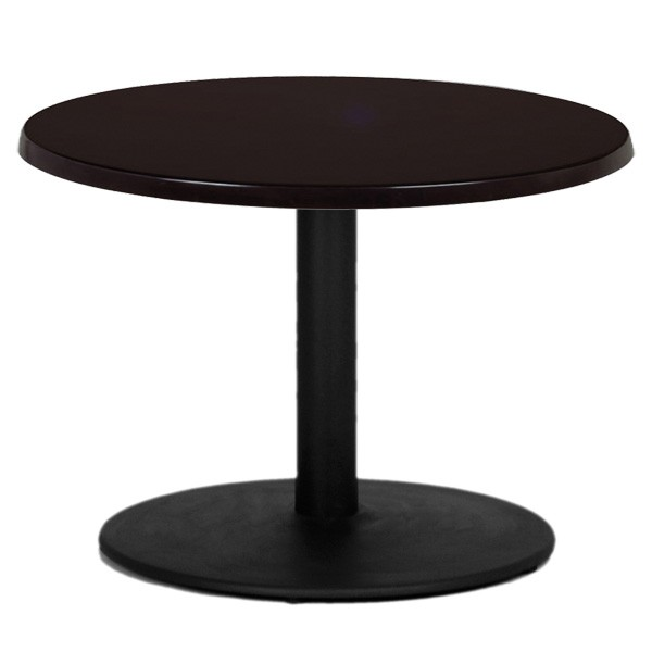 table de restaurant base ronde en fonte noir avec plateau ronde de grande dimension t15r one. Black Bedroom Furniture Sets. Home Design Ideas