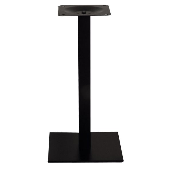 pied de table base carree en acier noir ultra plat pzn 21 40 one mobilier. Black Bedroom Furniture Sets. Home Design Ideas