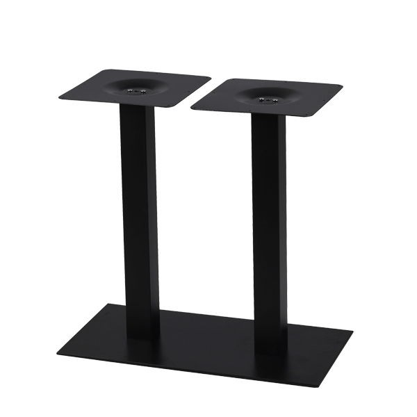 pied de table pour plateau rectangulaire en acier noir. Black Bedroom Furniture Sets. Home Design Ideas