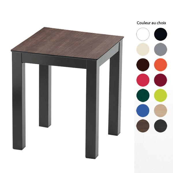 table basse 4 pieds couleur pied et plateau au choix hauteur 50 cm tis 50bs one mobilier. Black Bedroom Furniture Sets. Home Design Ideas