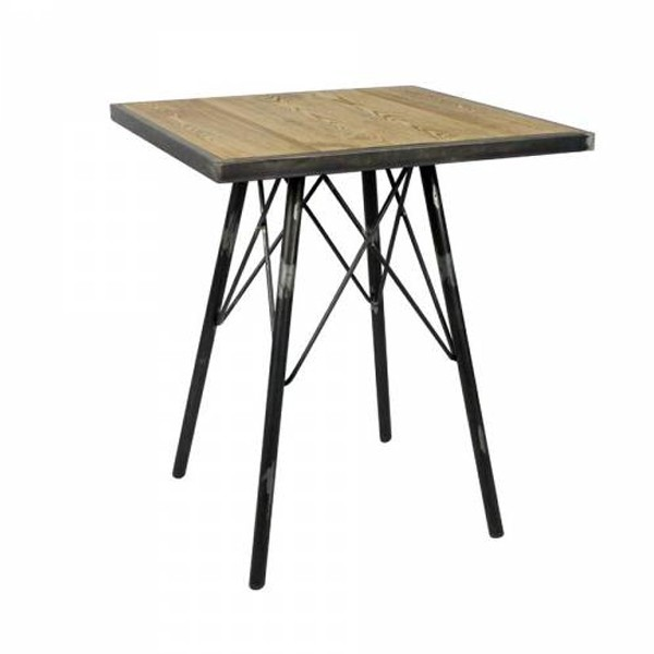 table 60x60 cm hauteur 75 cm en bois orme massif structure. Black Bedroom Furniture Sets. Home Design Ideas