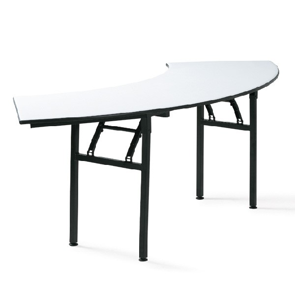 Table de conf rence demi lune pliante tga t008 one mobilier for Table de cuisine demi lune