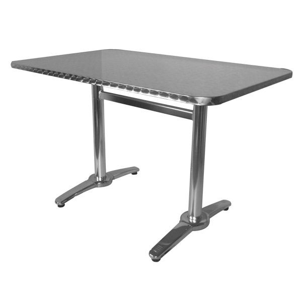 Table terrasse rectangulaire alu inox tra 18c120x70 one - Table bistrot rectangulaire aluminium ...