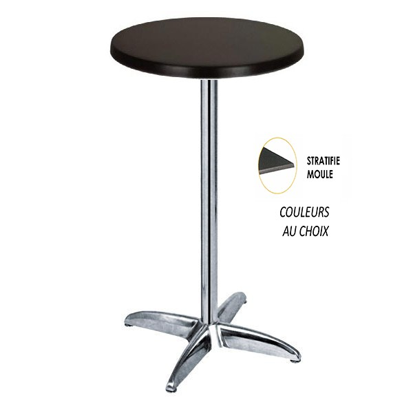 table mange debout rond 60 cm plateau stratifi moul couleur au choix tra 242rlm one mobilier. Black Bedroom Furniture Sets. Home Design Ideas