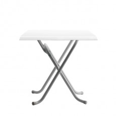 WEISS Table terrasse pliante plateau stratifié moulé blanc
