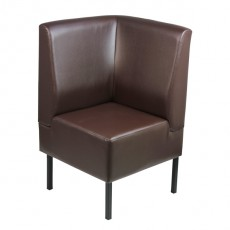 BANQ-07-M-ANG  Element d'angle banquette couleur marron