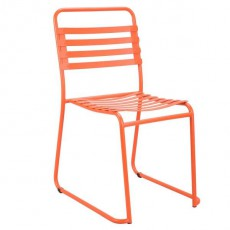 CBR-725 Chaise outdoor a lattes en metal orange