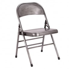 CBR-728 Chaise pliante antique en metal argent