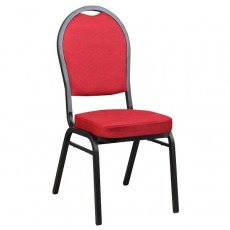 CGA-CY02-A134 Chaise empilable rouge